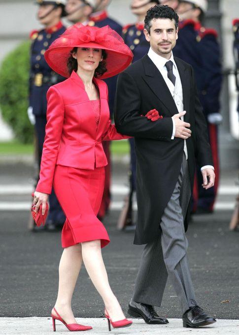 Érika y Antonio Vigo en la boda de Felipe y Letizia. (Gtres)