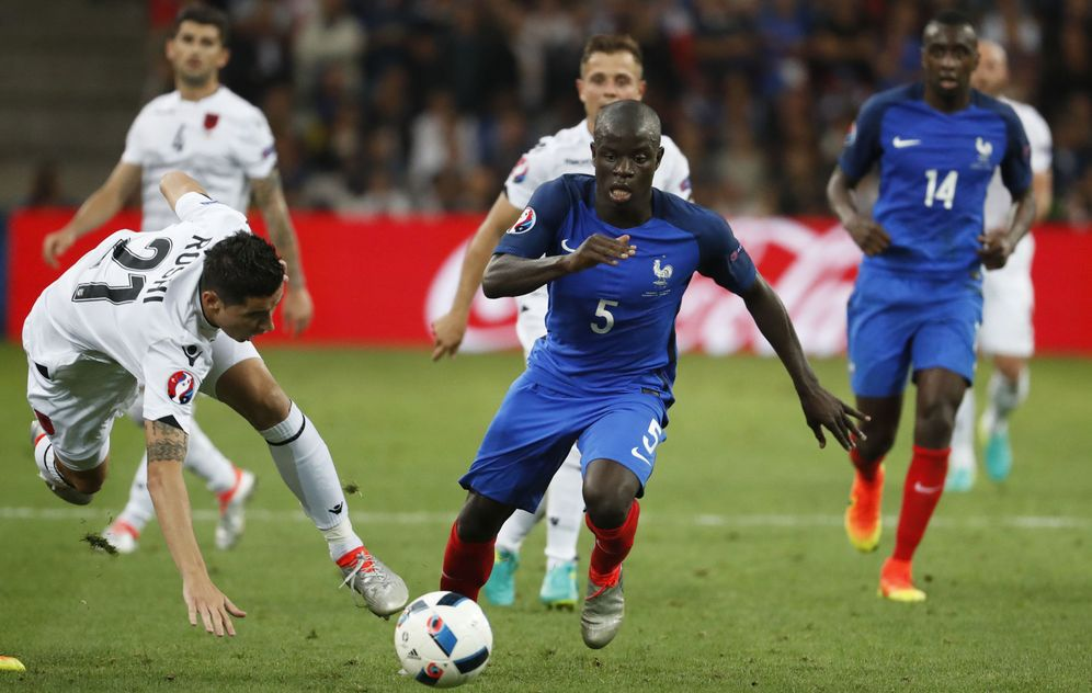 Foto: Kanté, durante el partido de Francia contra Albania en Marsella. (Reuters)
