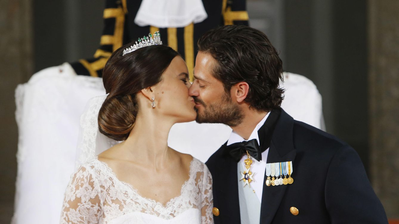 Foto: Carlos Felipe y Sofía el día de su boda (Gtres)