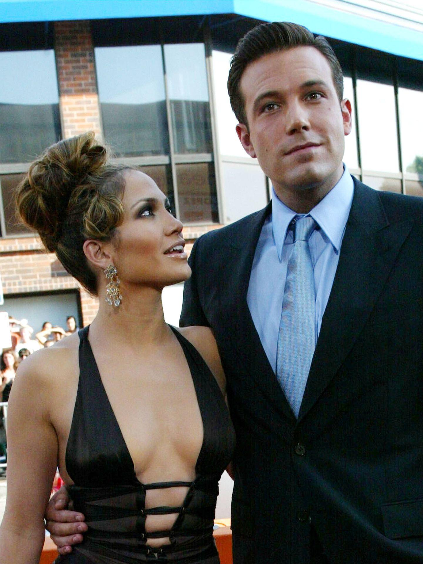 Jennifer Lopez y Ben Affleck, en una imagen de 2003. (Getty)