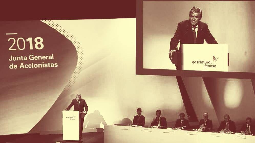 Foto:  Momento de la junta general de accionistas de Naturgy (ex Gas Natural Fenosa). (EFE)