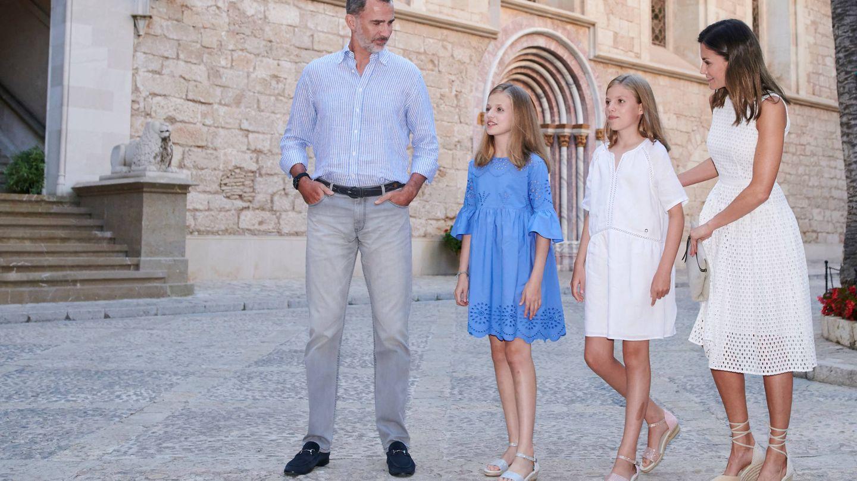 Los Reyes y sus hijas en 2018 en Palma de Mallorca. (LP)