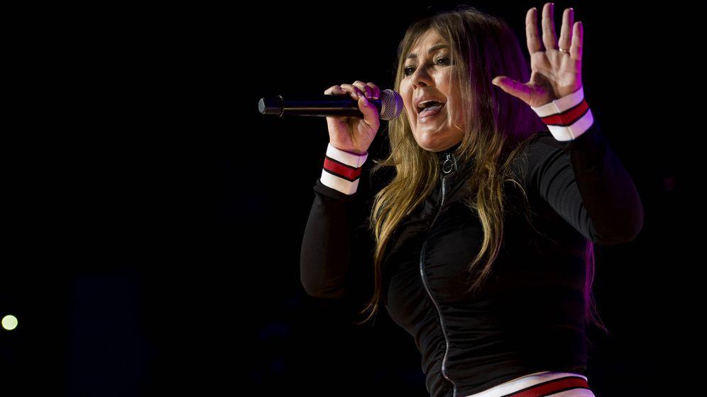 Foto:  Amaia Montero, en plena actuación. (Gtres)