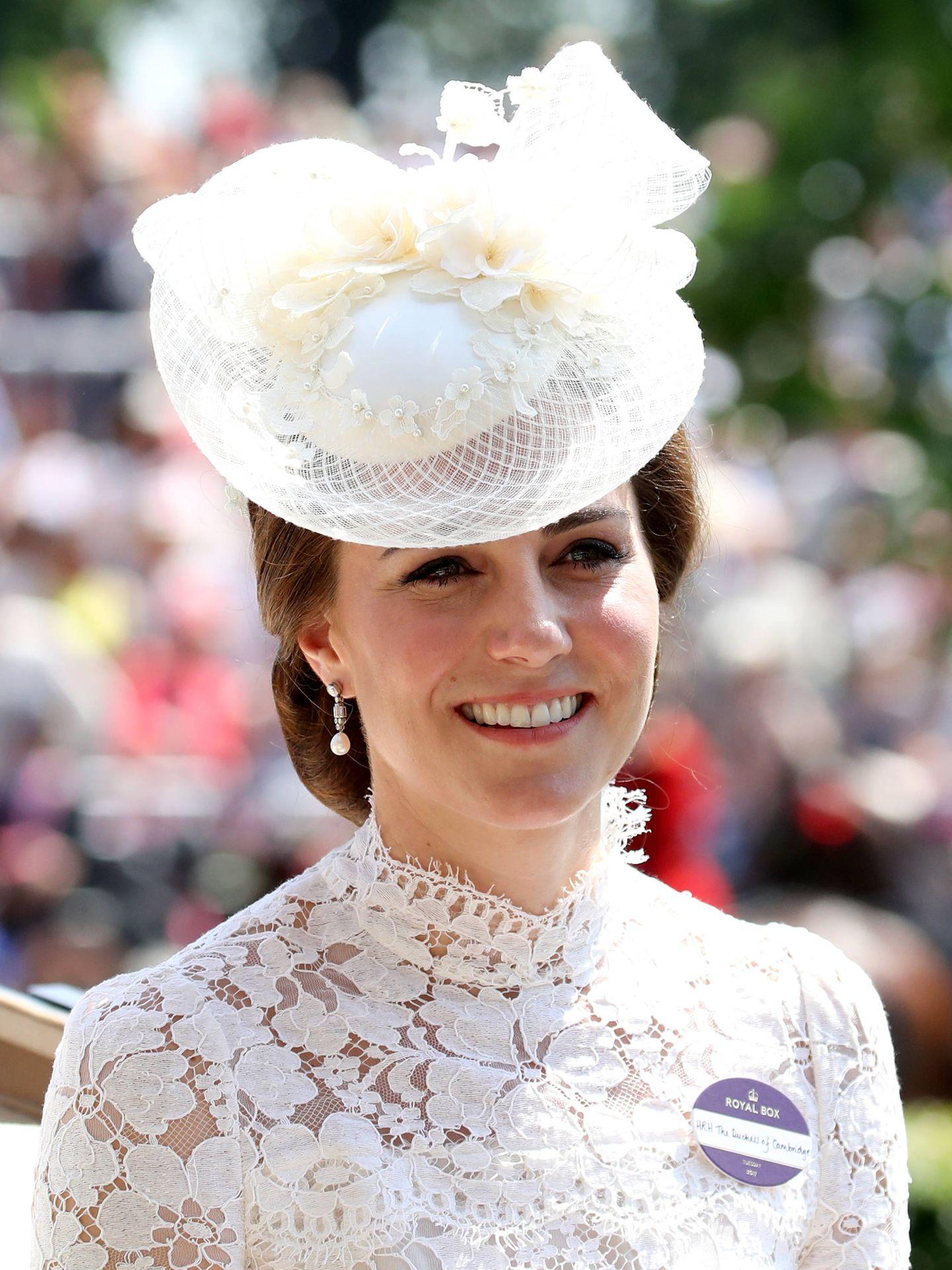 Kate Middleton en las carreras de Ascot de 2017. (Getty)