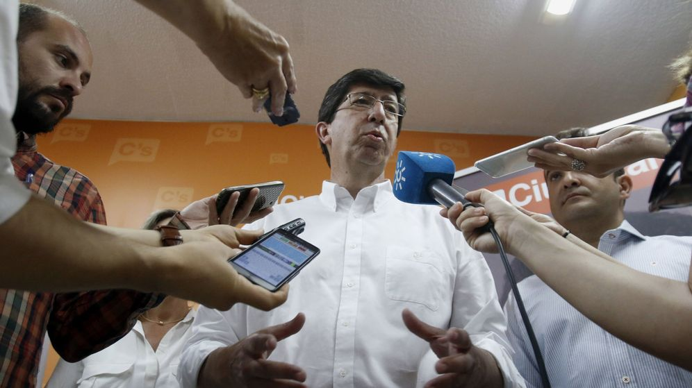 Foto: El presidente del grupo parlamentario y portavoz de Ciudadanos Andalucía, Juan Marín. (EFE)