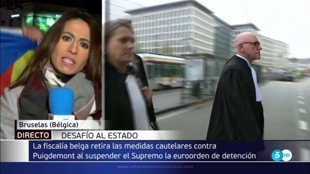 Foto: Ana Núñez-Milara denuncia acoso y sabotaje en su última conexión en 'Informativos Telecinco'.
