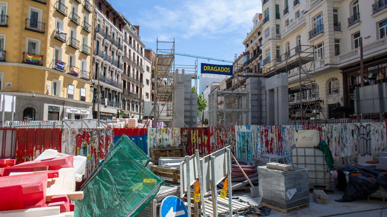 Estado actual de las obras de mejora de la estación de Gran Vía. (D.B.)