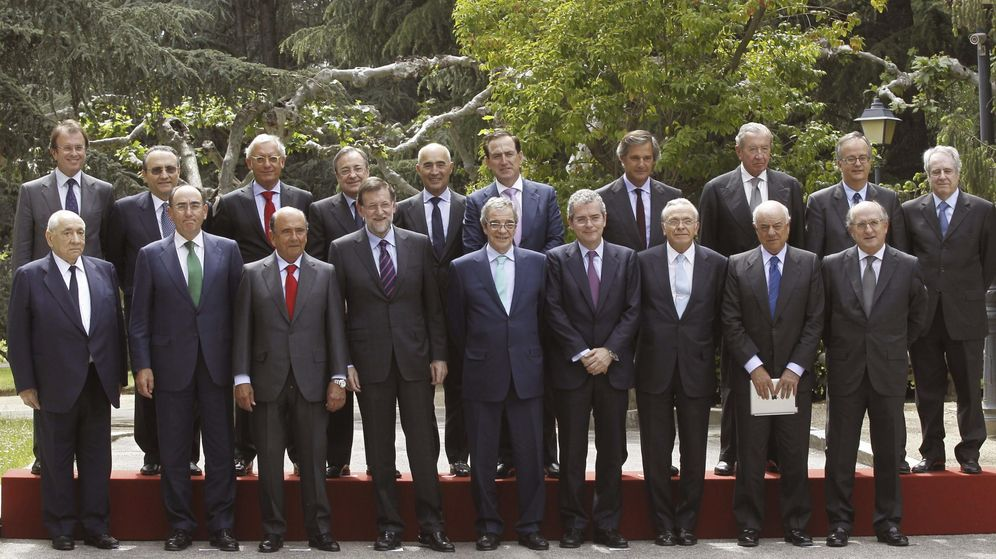 Foto: Fotografía de archivo de Mariano Rajoy con los grandes empresarios españoles que integran el Consejo Empresarial por la Competitividad. (EFE)