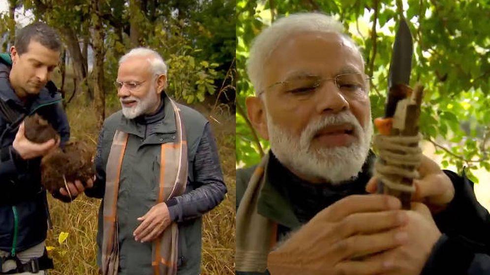Foto: Narendra Modi, en dos secuencias del programa que se emitirá el 12 de agosto