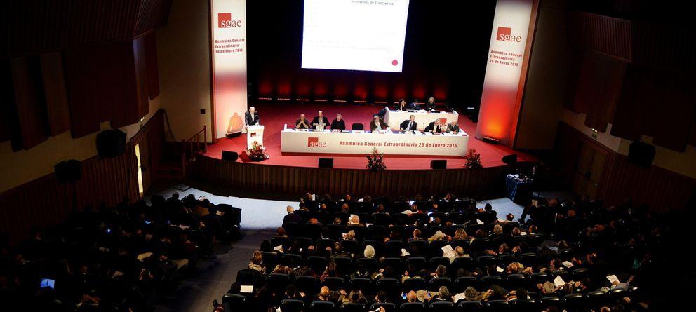 Foto: Asamblea de la SGAE del pasado mes de enero (EFE)
