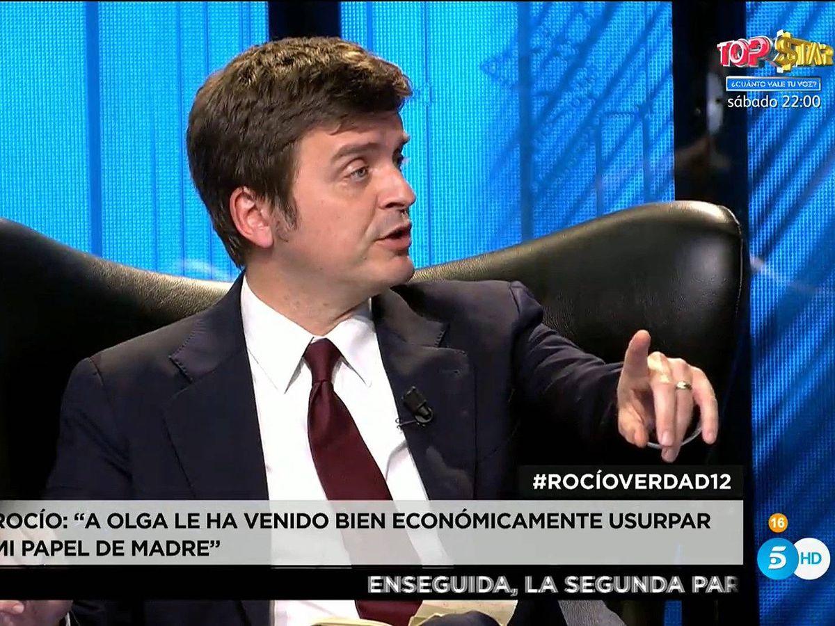 Foto: Marc Giró, en 'Rocío, contar la verdad'. (Mediaset)