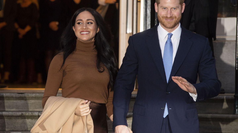 Meghan y Harry en su último compromiso público, este martes en Londres. (EFE)