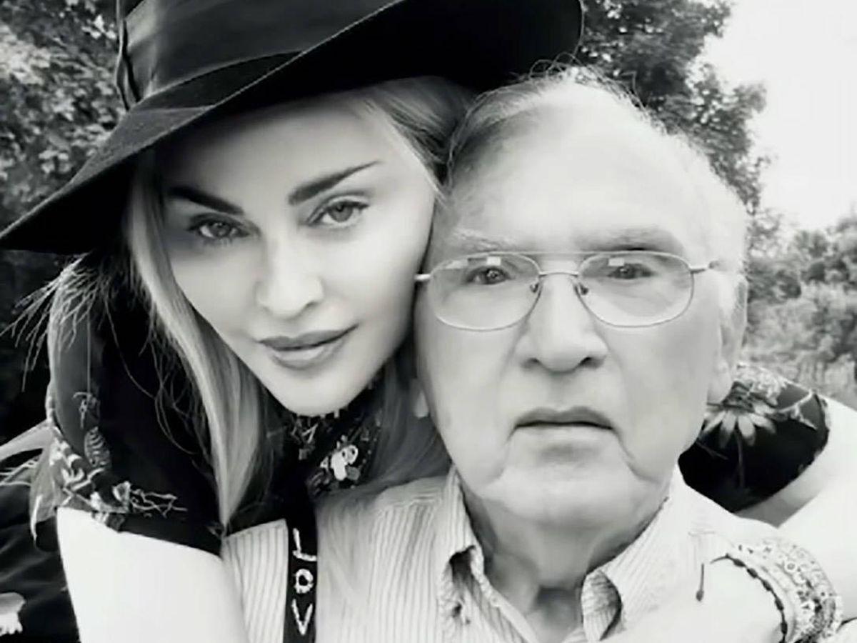 Foto:  Madonna, junto a su padre Silvio. (Instagram @madonna)