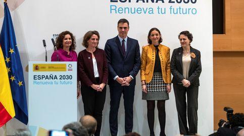 Galán (Iberdrola) y Bogas (Endesa) escoltan a Pedro Sánchez en plena carrera electoral