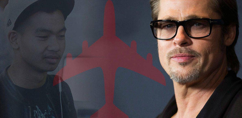 Foto: Brad Pitt y Maddox en un fotomontaje de Vanitatis
