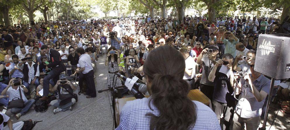 Foto: Pablo Iglesias, durante un encuentro en la Universidad Complutense. (Efe)