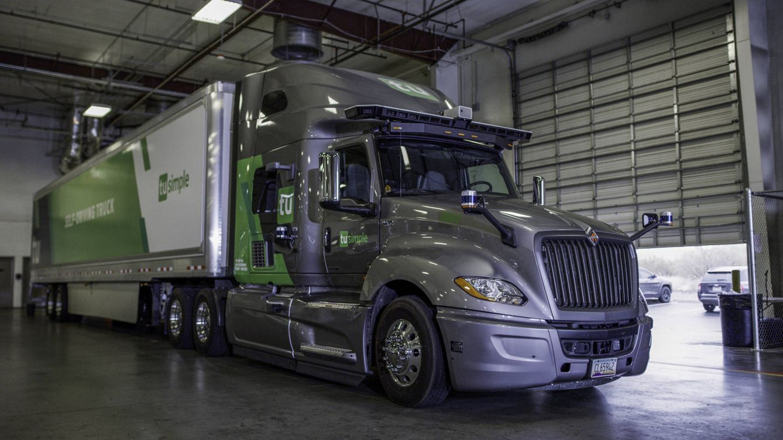 Foto: Uno de los camiones autónomos de TuSimple (TuSimple)