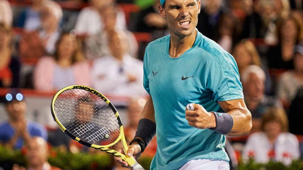 Foto: Rafa Nadal celebra su victoria ante Fognini en Montreal. (EFE)