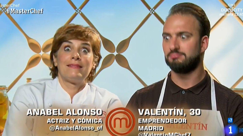 Valentín y Anabel Alonso, en 'Masterchef 7'. (RTVE)