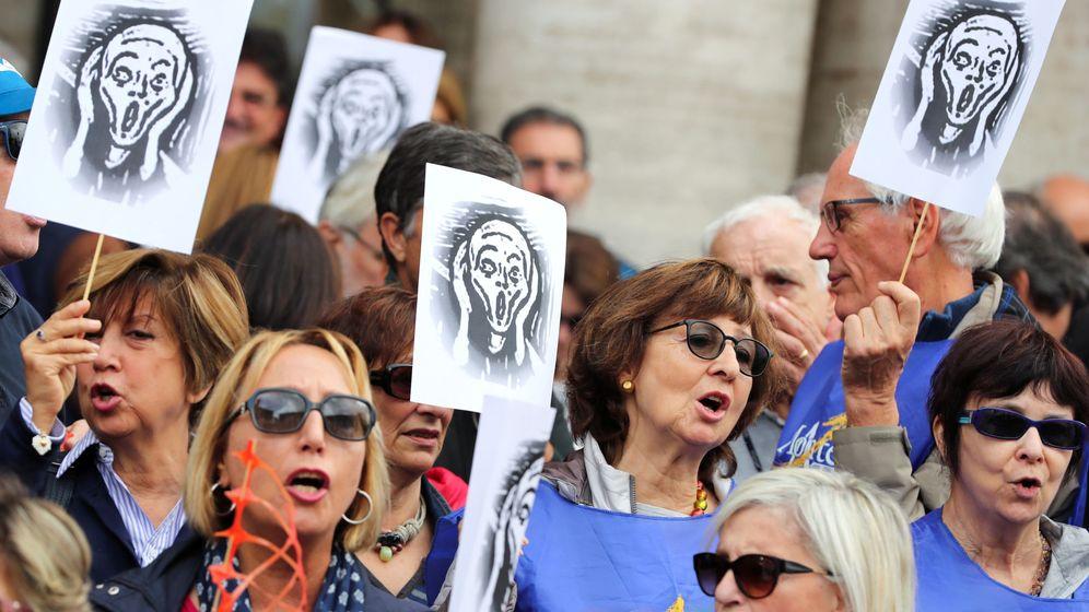 Foto: Protesta en Roma en octubre (REUTERS)