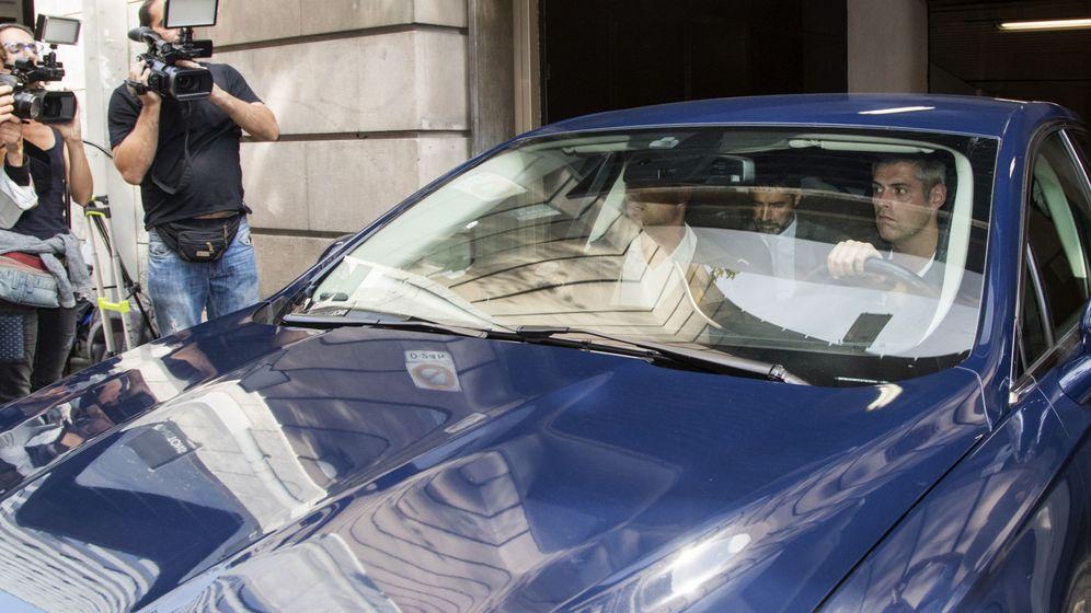 Foto: El Mayor de los Mossos d'Esquadra, Josep Lluís Trapero (c), a su salida de la reunión convocada por la Fiscalía del Tribunal Superior de Justicia de Cataluña. (EFE)