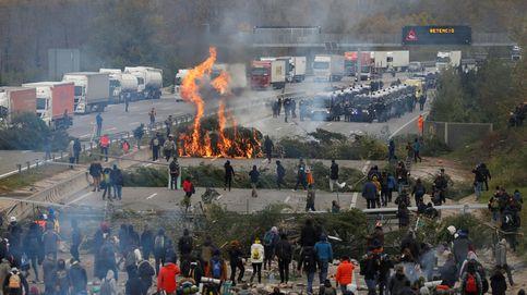 Desbloqueada parcialmente la AP-7 en Girona tras el desalojo de los manifestantes