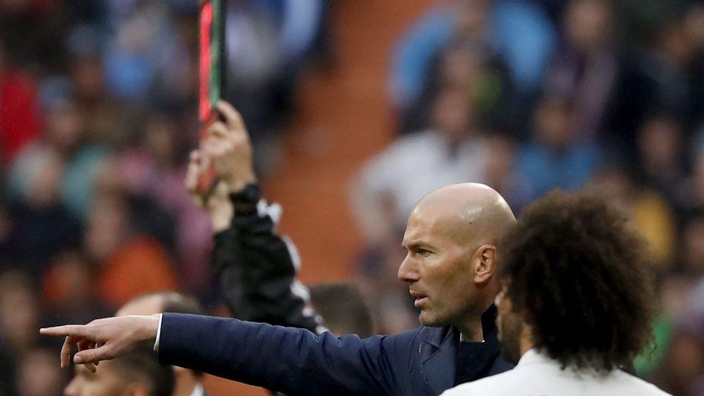 Foto: Marcelo y Zidane en un partido de la anterior etapa. (EFE)