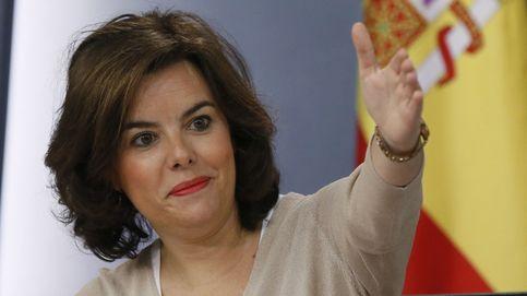 Las cámaras captan el polémico gesto de Soraya Sáenz de Santamaría