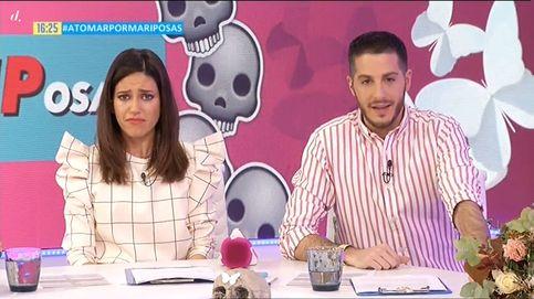 El sofocón de Nuria Marín y Nando Escribano en el entierro de 'Cazamariposas'