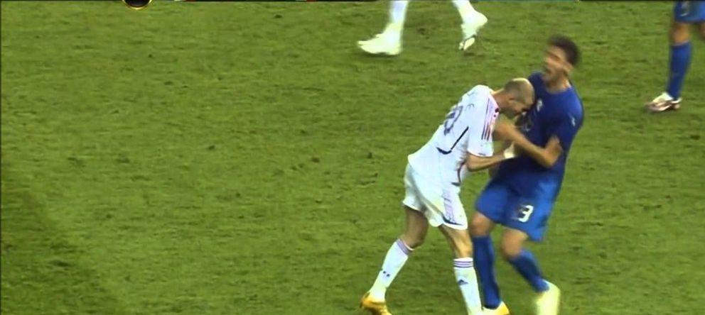 Foto: Momento en el que Zidane propina el cabezazo a Materazzi en la final del Mundial 2006.