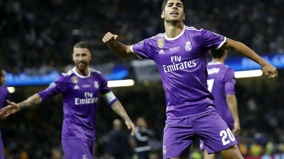 Foto: Marco Asensio marcó el último gol de la final de la Champions que enfrentó al Real Madrid con la Juventus. (EFE)