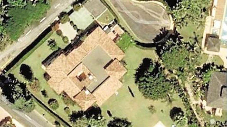 Imagen aérea de la nueva casa de los Aznar en Marbella