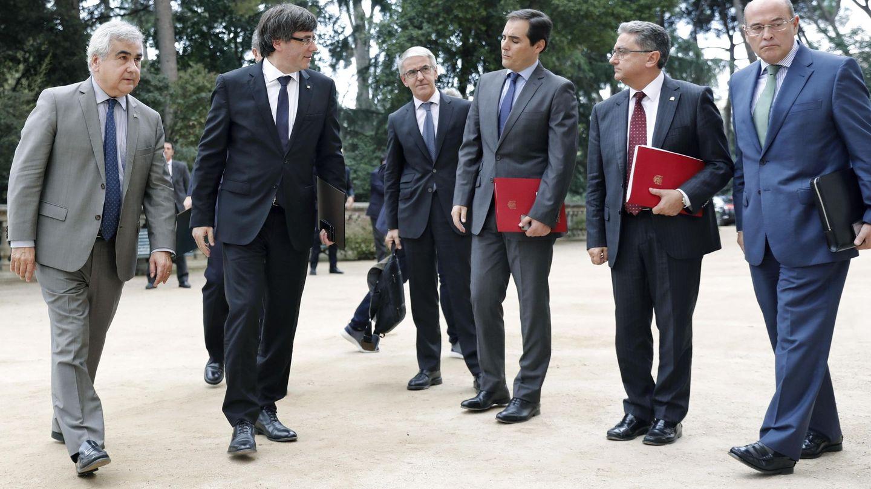 Reunión de la Junta de Seguridad de Cataluña para coordinar la seguridad del  1-O. (EFE)