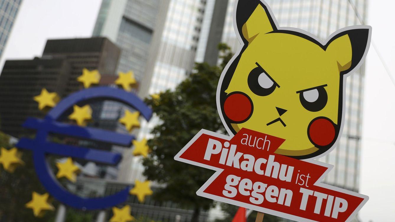 Foto: Una imagen de la última manifestación en contra del TTIP en Alemania
