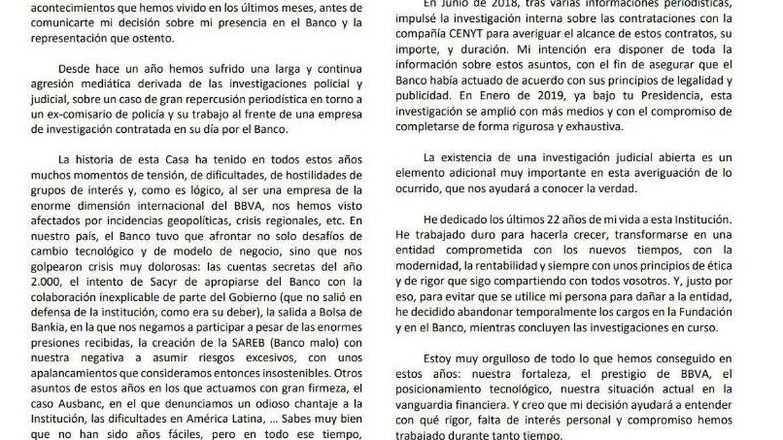 Carta de FG a Carlos Torres.