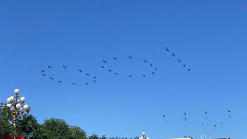 Aviones sobre el cielo de China
