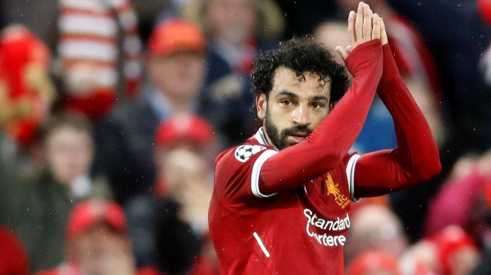 Foto: Salah marcó dos goles y dio dos asistencias en la victoria por 5-2 del Liverpool ante la Roma. (Reuters)