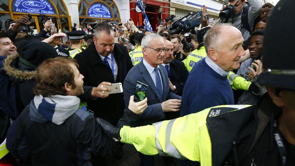 La fiesta de Ranieri: ver el partido final en casa y hacerse la cena en el descanso