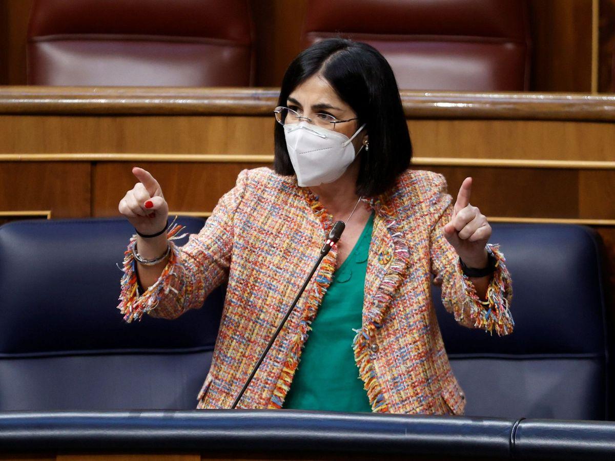 Foto: La ministra Darias, en el Congreso de los Diputados. (EFE)