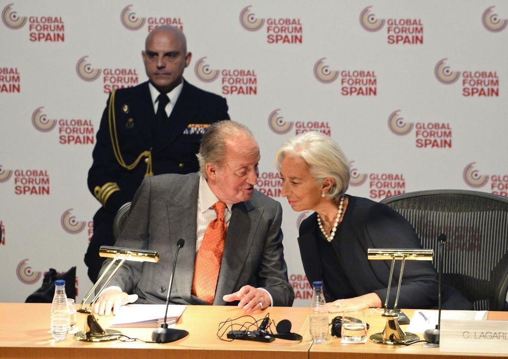 Foto: El Rey don Juan Carlos junto a Christine Lagarde (Reuters)