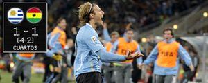 Un paradón de un delantero mete a Uruguay en semifinales