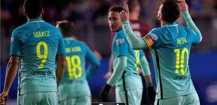 Post de Messi reparte caramelos en un partido complicado en el que se lesionó Busquets