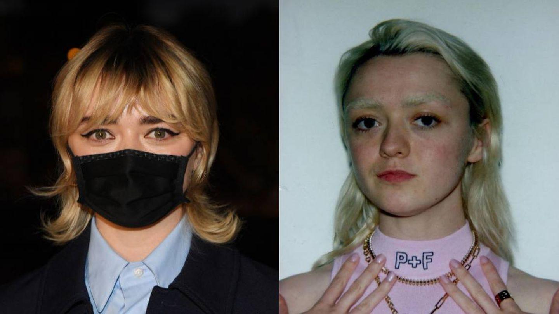 Las cejas naturales de Maisie Williams vs. las belached eyebrows (Getty/Instagram)