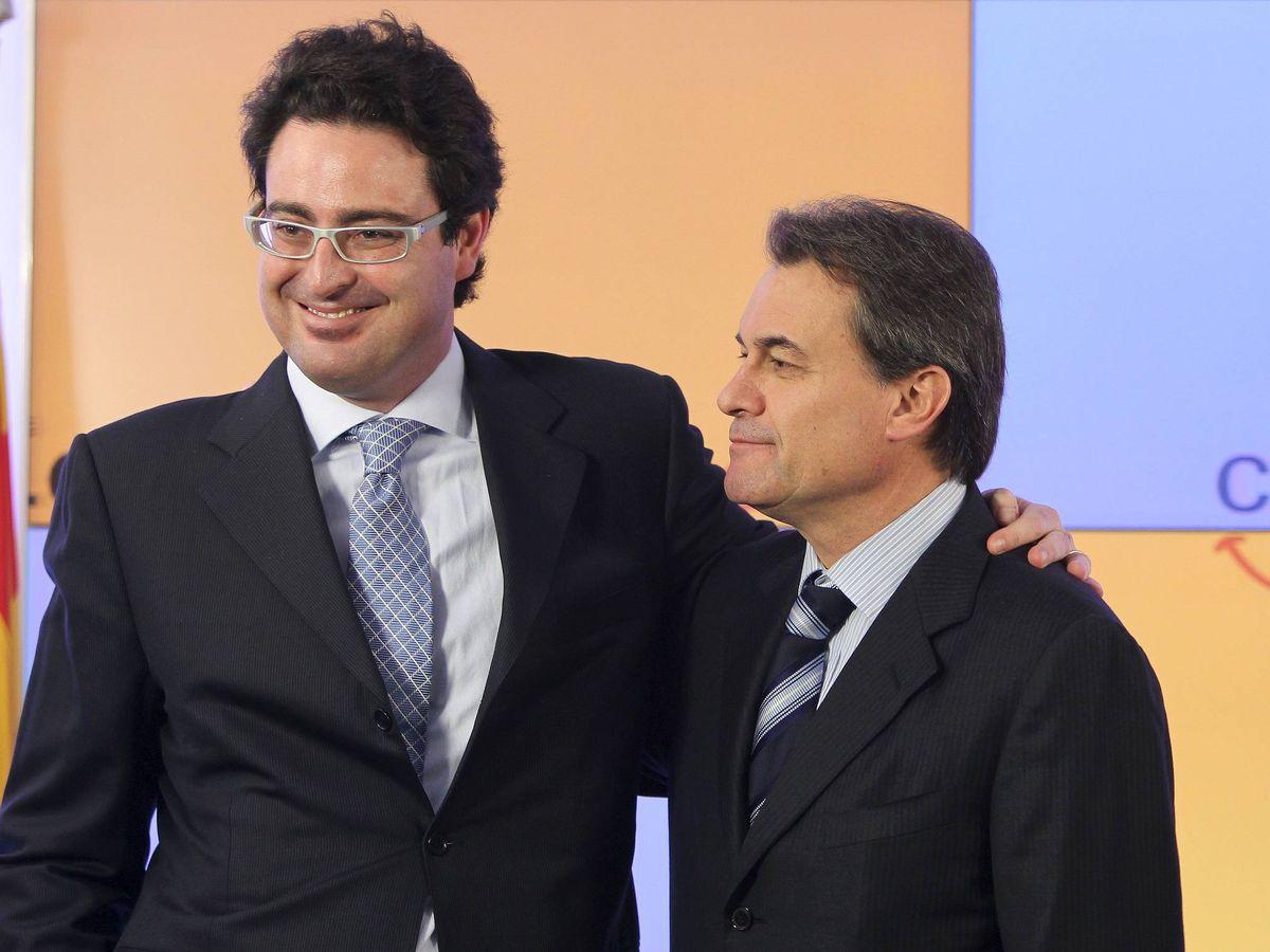 Foto: David Madí, junto a Artur Mas, en 2010. (EFE)