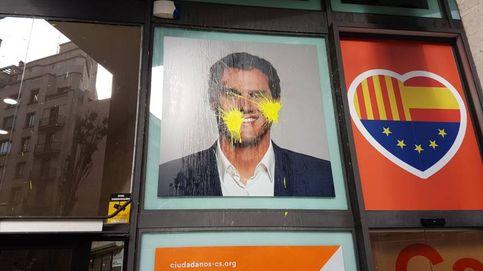 La sede de Ciudadanos en Barcelona, atacada con pintura amarilla
