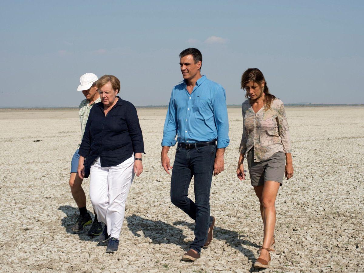 Foto: Angela Merkel visitó a Pedro Sánchez en Doñana en 2018. (EFE)