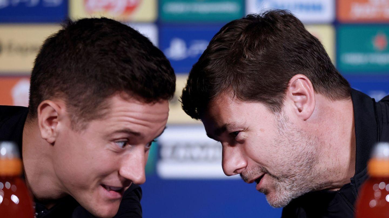 Herrera y Pochettino, en rueda de prensa. (EFE)