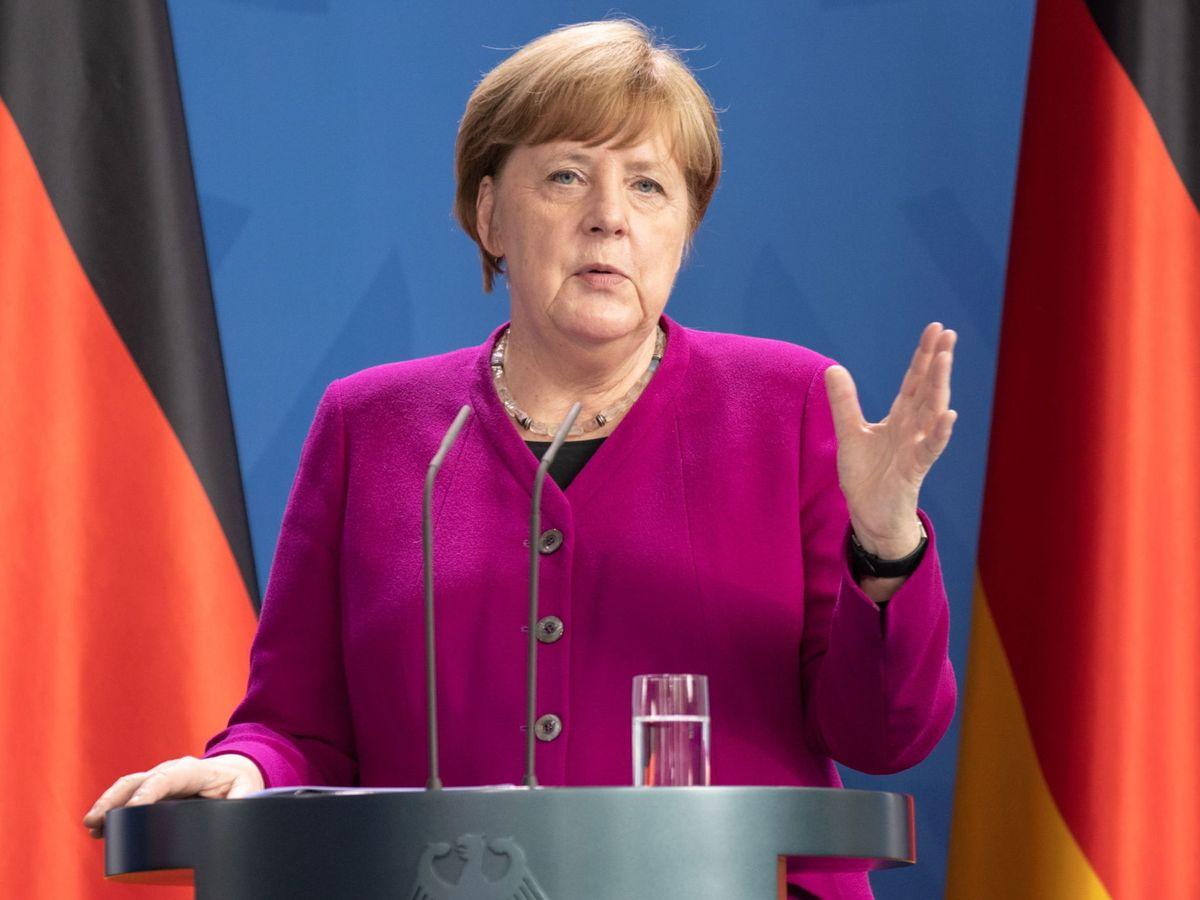 Foto: Angela Merkel, con una de sus famosas chaquetas. (EFE)