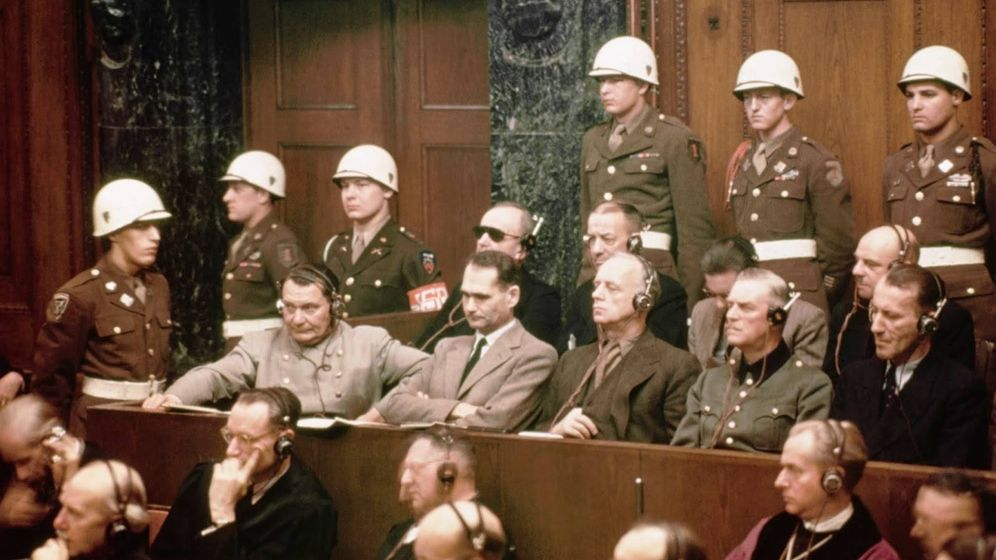 Foto: Jerarcas nazis acusados en los Juicios de Núremberg.