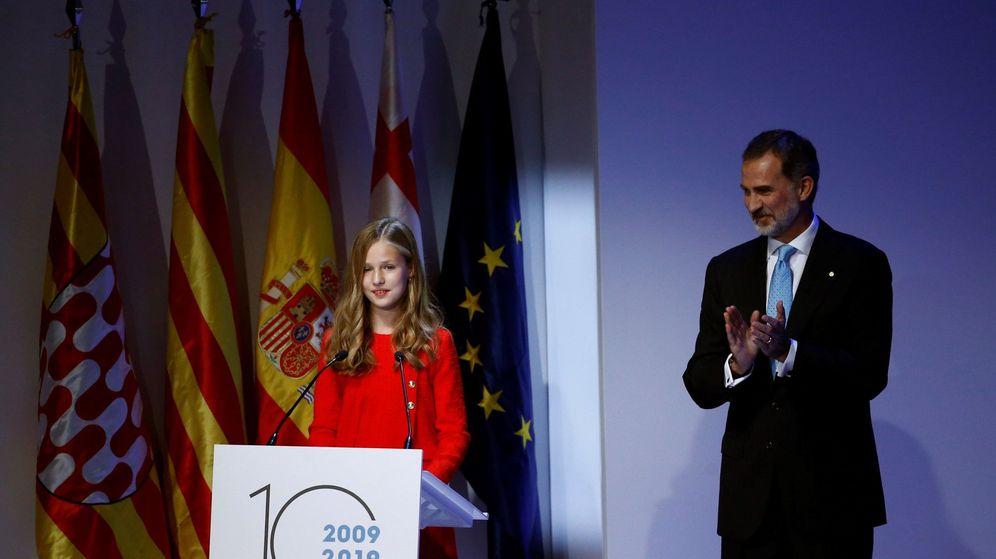 Foto: La princesa Leonor, en presencia del rey Felipe, en los Premios Princesa de Girona. (EFE)
